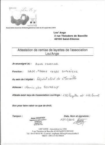 association Lou`Ange deuil périnatal livraison Marseille hopital nord layettes