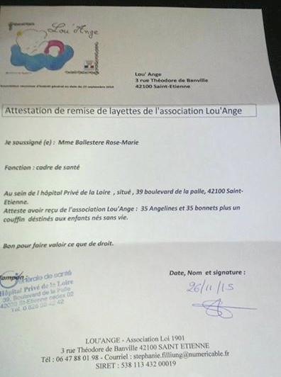 association Lou`Ange deuil périnatal livraison HPL