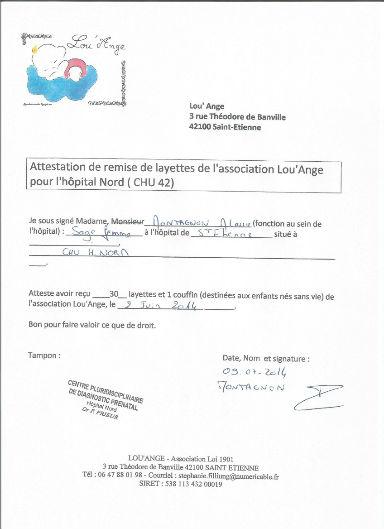 attestation chu 2014