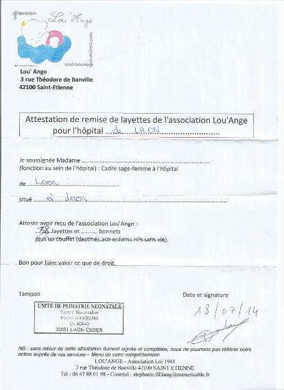 attestation remise laon