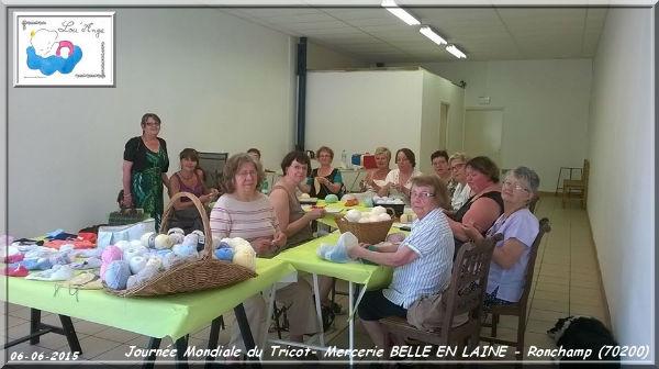 Lou`Ange Mercerie Belle en Laine Journée Mondiale du Tricot