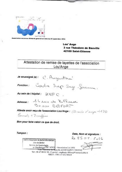 attestation layettes Belfort 90 nids d`ange Lou`Ange
