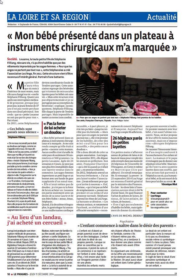 Le Progrès St Etienne 11/12.2014